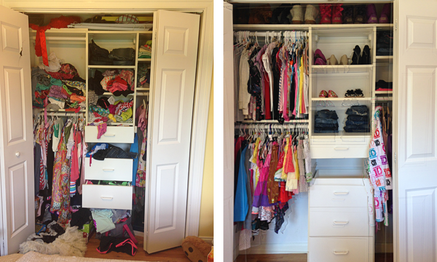 Girls Closet Before After